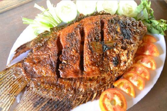 Recipe of Grilled Tilapia Spicy Yellow Seasoning